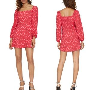 SANCTUARY Celia printed mini dress. Size 12